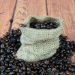 Royalty-Free Stock Photo: Coffee beans in bag