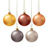 Set of christmas balls — Stock Photo