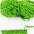 Yarn and needles for kniting — Stok fotoğraf