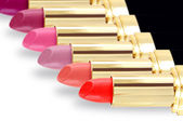 Lipstick in different colors — Stock Photo