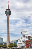 View at Dusseldorf Rhein tower in a nice summer day — Stock Photo