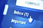 Inbox button — Stock Photo