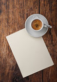 Coffee and letter — Stock Photo