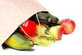 Vegetables in a paper bag — Stock Photo