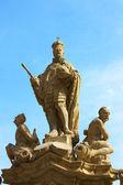 Gammal staty i prag — Stockfoto