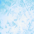 Frost on windowpane — Stock Photo