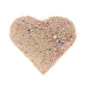 Heart from a sand — Stock Photo