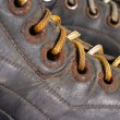 Fragment old hockey skates — Stock Photo