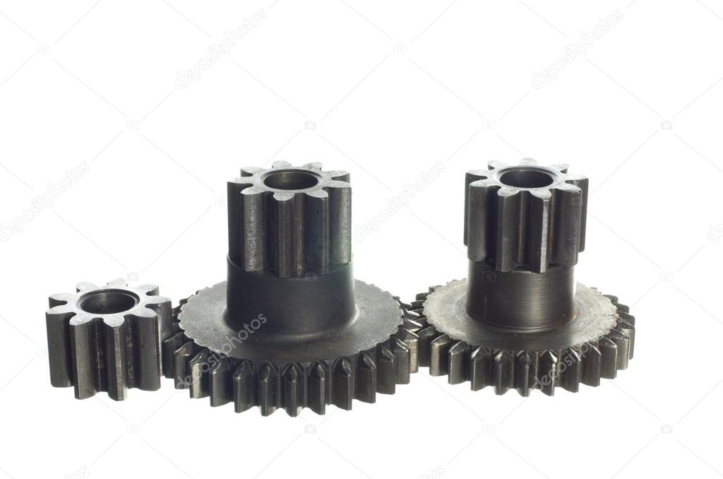 Mechanism with cog-wheels on white background  Stock Photo #15719105