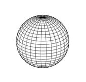Sphere on white background — Stock Photo