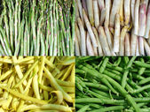 Vegetables beans and asparagus — Stock Photo