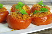 baked stuffed tomatoes  — Stock Photo