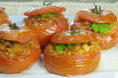baked stuffed tomatoes  — Stock Photo