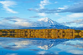 Ancient Volcano and Lake — Stock Photo