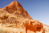 Bright Red Hill in Desert.jpg — Stock Photo