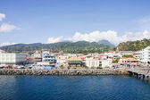 Levy on Coast of Dominica by Rosseau — Stock Photo