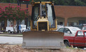 Bulldozer From Front by Strip Center — Stock Photo