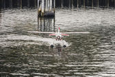 Seaplane Taxiing From Front — Foto Stock