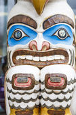 Colorful Inuit Totem in Alaska — Stock Photo