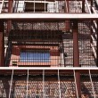 Fire Escape Ascending Red Brick — Stock Photo #13821381