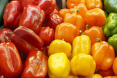 Colorful Bell Peppers in a Farmers Market — Stock Photo