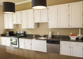 Nice Kitchen with White Cabinets — Stock Photo
