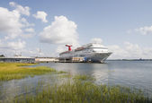 Cruise Ship Across Wetlands on Coast of Carolina — Stock Photo