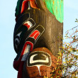 Stock Photo: Inuit Totem Under Blue Sky