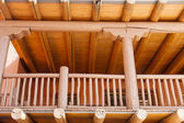 Wood Porch on Adobe Building — Stock Photo