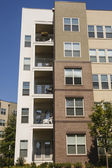 Balconies and Windows in Condo Building — Stock Photo