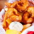 Fried Shrimp and Tartar Sauce - Foto de Stock