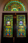 Stained Glass Doors — Stock fotografie