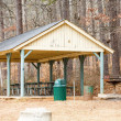 Stock Photo: Old Fashioned Picnic Pavilion at Park