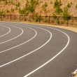 Curve in Running track — Stock Photo