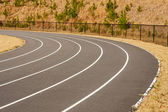 Curve in Running track — Stock fotografie