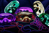 Mardi Gras Masks and Beads — Stock Photo