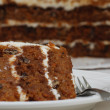 Stock Photo: Slice of Carrot Cake on Plate with Fork