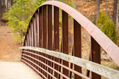 Rusty Steel Span on Old Bridge — Stock Photo