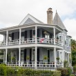 Stock Photo: Traditional Grey Two Story Home