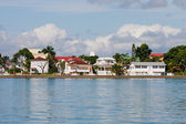 Coastal Homes in Belize — Stock Photo