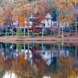 Nice House on Shore of Calm Lake — Stock Photo #21879369