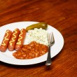 Lunch of Franks and Beans — Stock Photo