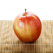 One Macintosh Apple on Mat — Stock Photo