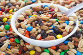 Trail Mix in White Bowl — Stock Photo