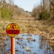 Petroleum Pipeline Easement in Wetlands — Stock Photo