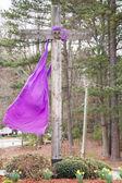 Purple Sash Hanging on Cross — Stock Photo