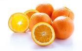 Light Through Slice of Orange — Stock Photo