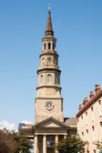 Brown Stone Steeple on Church — Stock Photo