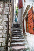 Stone Steps by Red Shutters — Foto Stock