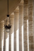 Lamp and Columns at Saint Peters — Stock Photo